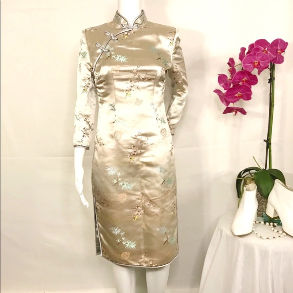 Couture Asian Style Silk Dress by Frank Si…